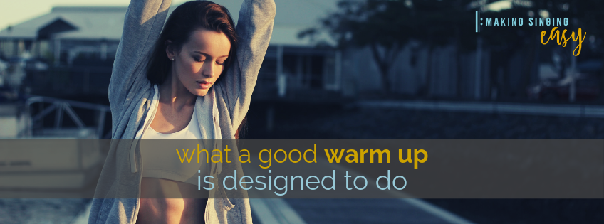 What a good warm up is designed to do